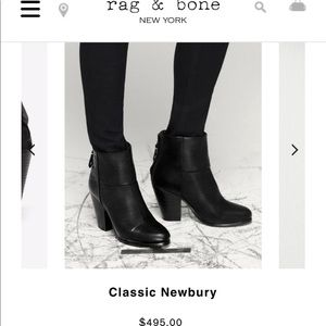 Rag & Bone Classic Newbury Boot in Black size 7.5